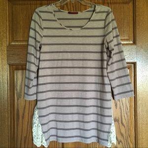 3/4 sleeve lightweight tunic top